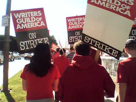 WGA Strike actionphoto