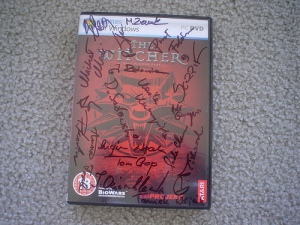 Autographed Witcher UK